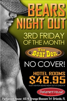 AD BY DREW SIZEMORE - Bears Night Out at the Bear Den