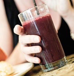 Beet and green-apple juice from Cafe 118. - PHOTO BY ROB BARTLETT