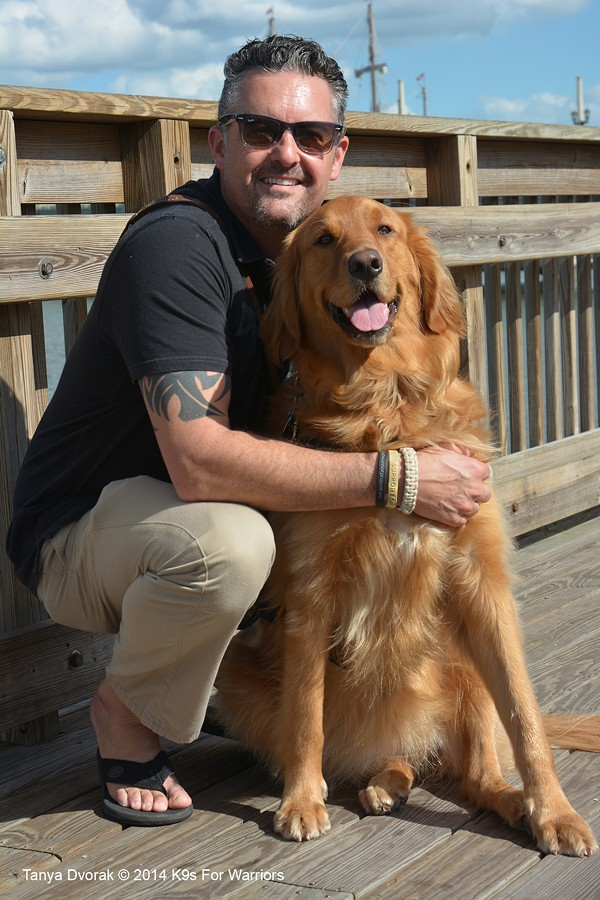 Bella and Kevin - PHOTO COURTESY OF K9S FOR WARRIORS