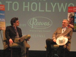 Ben Mankiewicz and Burt Reynolds at Tampa Theatre
