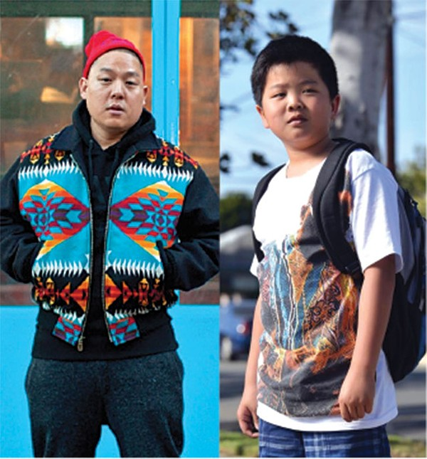 EDDIE HUANG BY ATISHA PAULSON; 'FRESH OFF THE BOAT' STILL COURTESY ABC-TV