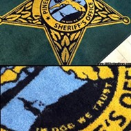 "Best typo ever: ""In Dog we trust"" printed on Pinellas County Sheriff's rugs"