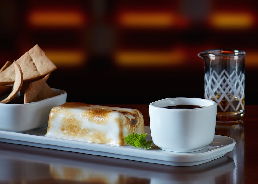 DECONSTRUCTED BALVENIE S'MORE (PHOTO VIA FLEMING'S PRIME STEAKHOUSE)