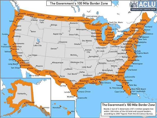 Borderline: ACLU map shows that the entirety of Florida is a rights ...