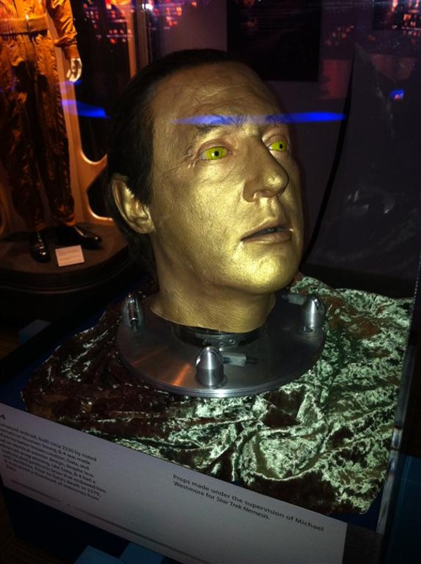 "Brent ""Data"" Spiner's head headlines KSC's just-closed Star Trek exhibition."