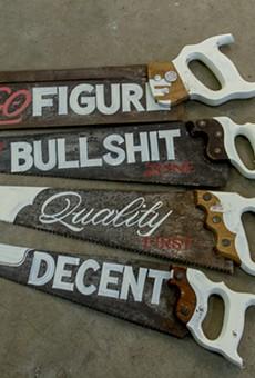 Check out the artisanal skill of hand-painted signs at 'Kenji Nakayama: The Quick Brown Fox'
