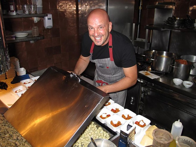 Chef Kevin Fonzo hard at work - PHOTO BY FAIYAZ KARA