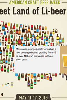 Click the image to see an interactive version of this map and learn other states' fun beer facts.