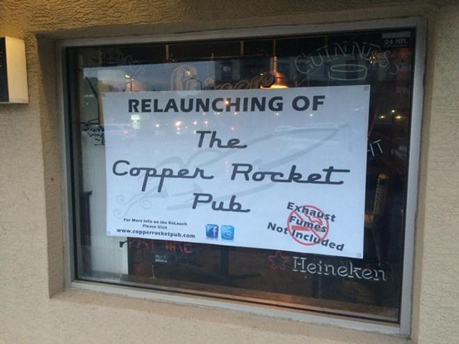 VIA THE COPPER ROCKET PUB ON FACEBOOK