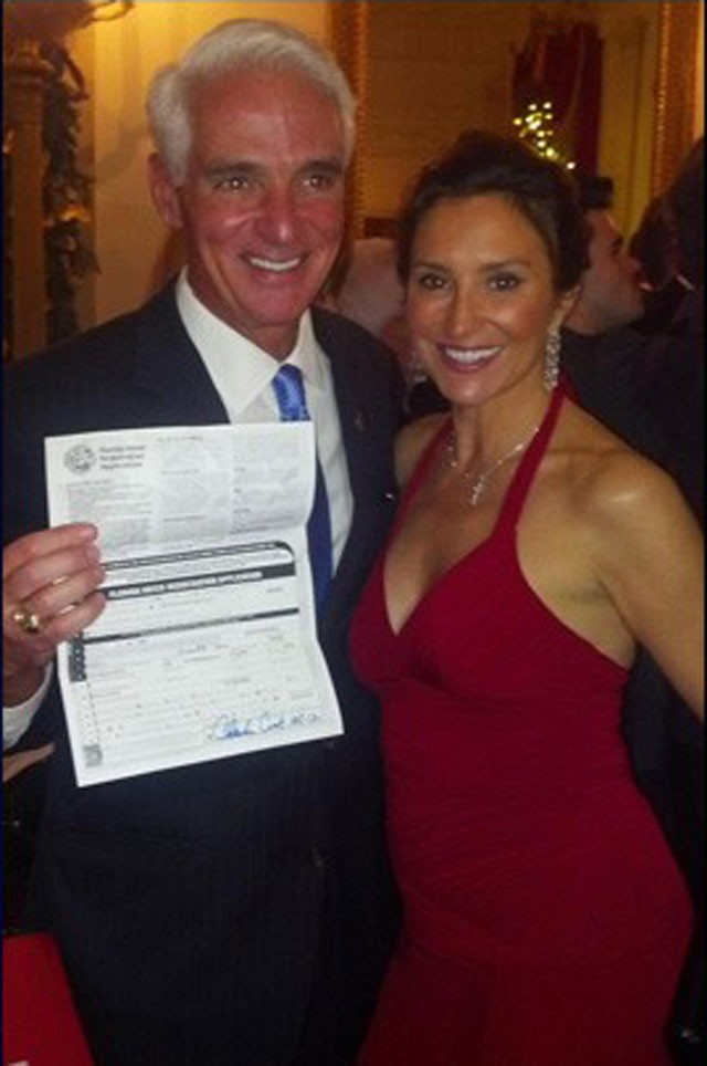Crist on a cross! A totally expected bit of Christmas martyrdom as newly Democratic Charlie Crist prepares for his re-ascension - CHARLIE CRIST VIA TWITTER