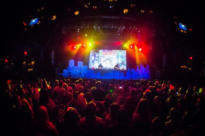 DJ Shadow & Cut Chemist play Afrika Bambaataa at House of Blues (photo by Christopher Garcia)