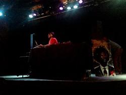 DJ Spreadsheets kicks things off. Photo by Ashley Belanger