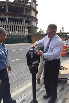 Downtown Orlando got new parking meters