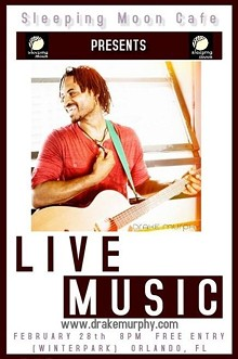 CANARI MANAGEMENT - Drake Murphy Performs at Sleeping Moon Cafe