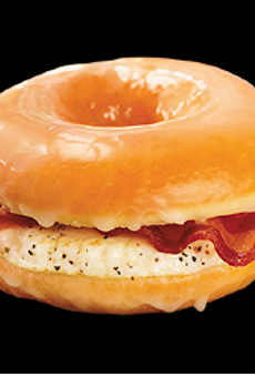 Dunkin Donuts' new Glazed Donut Breakfast Sandwich will make its national debut Friday June 7.