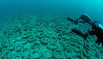 Florida is still cleaning up nearly 1 million tires that were dumped in the ocean back in the '70s