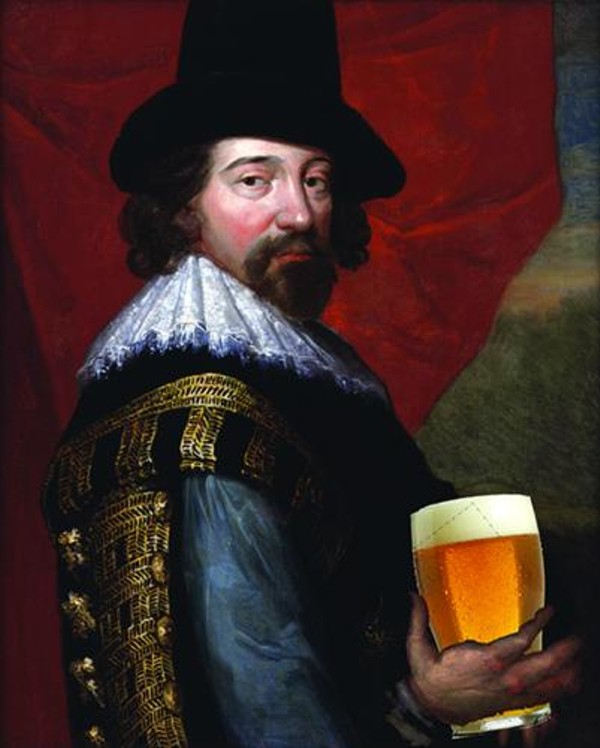 Francis Bacon and Beer art by Brendan O'Connor