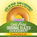 Free Krispy Kreme today: Lose an hour, gain a doughnut