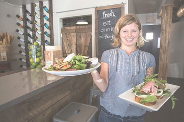 Fresh: Intimate café offers an antidote to Hannibal Square's trendy restaurant scene.