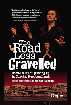 """Outport Productions presents """"The Road Less Gravelled"""" at Orlando Fringe. - IMAGE VIA WANDACARROLL.COM"""