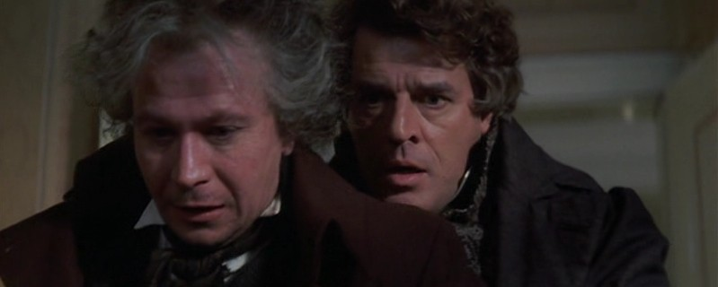 Gary Oldman (left) as Beethoven