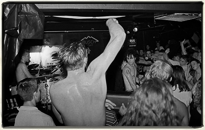 Green Day at Club Nowhere, Orlando, 1993PHOTOS: 15 high notes from Jim Leatherman's Greatest Hits 1984-2014 exhibit - JIM LEATHERMAN