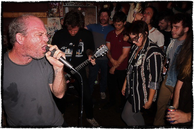 Clabber boys: Raucous photos from the Golden Pelicans at Bar-BQ-Bar - JIM LEATHERMAN