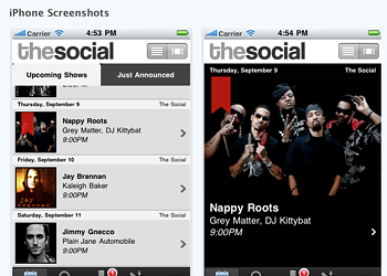 Hey, the Social's got an iPhone app