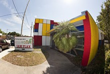 Hip to be square - Sam Flax Art and Design's new building is painted in homage to Piet Mondrian - PHOTO BY ALDRIN CAPULONG