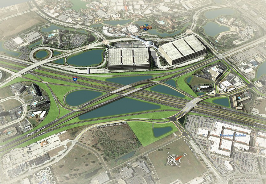I-4/Kirkman Interchange Rendering