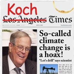 Image via Don't Let the Koch Bros. buy Tribune petition: http://eslkevin.wordpress.com/2013/04/15/dont-let-the-koch-brothers-buy-the-tribune-company/