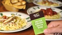 Olive Garden introducing a never-ending pasta pass