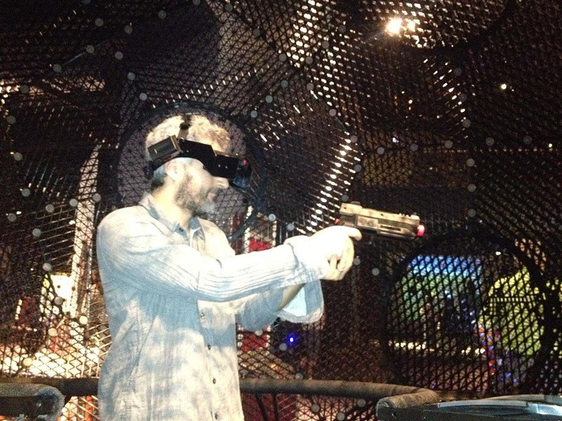 Inside the Virtusphere at Orlando Science Center's Otronicon