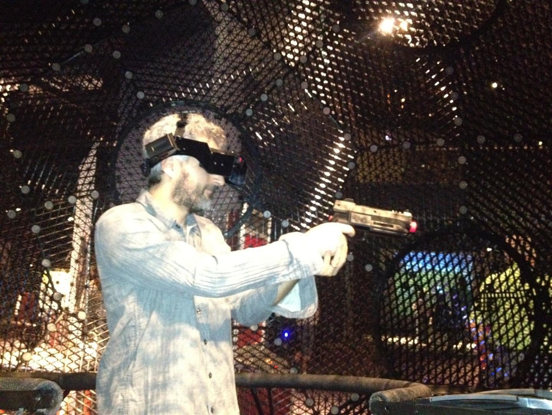 Inside the Virtusphere at Orlando Science Center's Otronicon