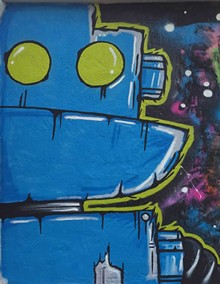 RANDALL SMITH - Junkbot mural Ten10 Brewery