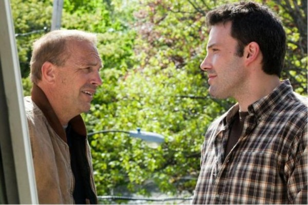 Kevin Costner (left) teaches Ben Affleck about hard work