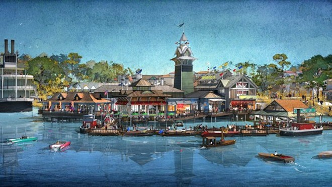 ARTIST'S RENDERING OF THE BOATHOUSE AT DISNEY SPRINGS VIA DISNEY