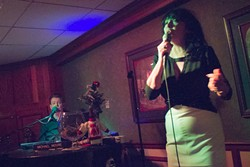 Lorna Lambey and Michael Moore at the Red Fox Lounge (photo by Christopher Garcia)