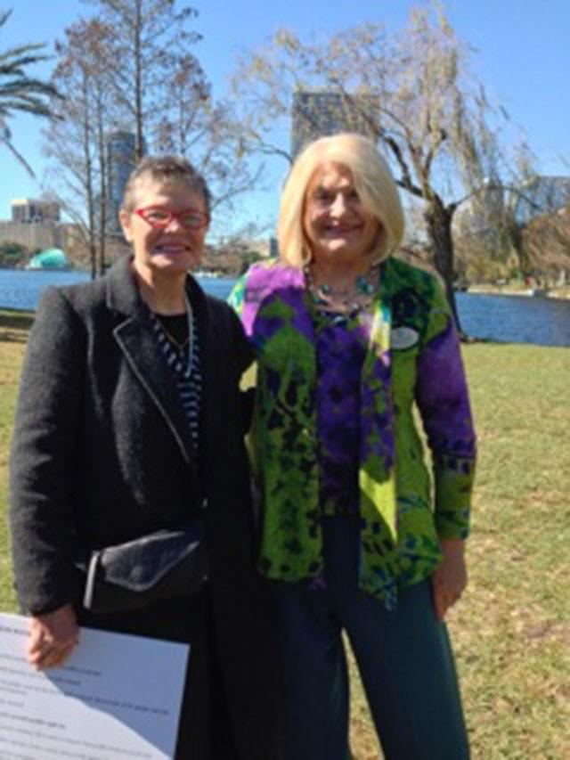 Marjorie Holt and Linda Stewart - PHOTO BY SHANNON SCHEIDELL