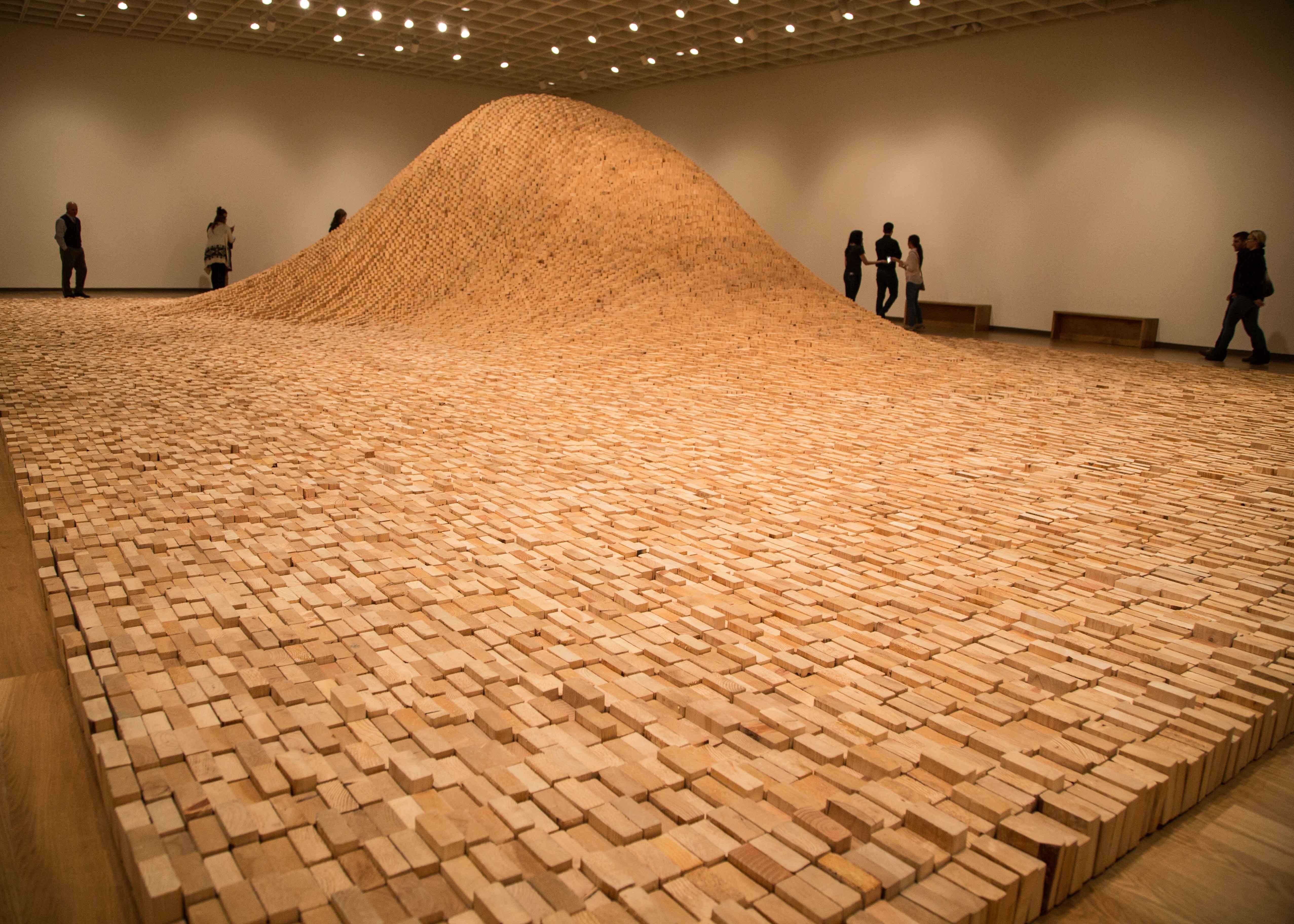 """Maya Lin, 2 x 4 Landscape, 2006, SFI certified wood 2 x 4s, 10' x 53'4"""" x 35', © Maya Lin Studio - NICHOLAS TRAVAGLINI"""