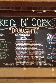 Maybe tonight's beers?