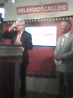 Melvin Benn (left) and Mayor Buddy Dyer