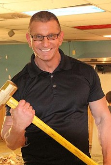 Robert Irvine is a little scary.