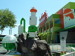 Nickelodeon Studios during its '90s heyday, as seen from the base of the mighty slime geyser.