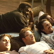 "Not sick of the James Franco-Seth Rogen-Jonah Hill show yet? ""This Is the End"" is coming backing to theaters on Friday"