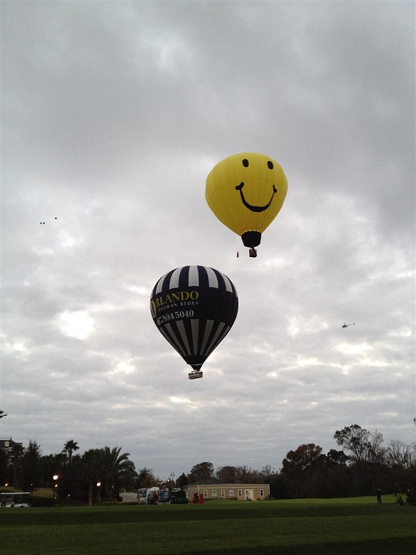 Orlando Balloon Rides shows off their new hot-air ride, the largest on the continent.