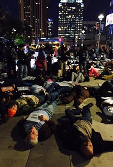 Photo from the die-in in downtown Orlando