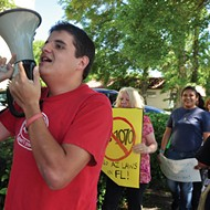 "Protestors tell Altamonte-based state senator not to pass ""Arizona-lite"" immigration bills"