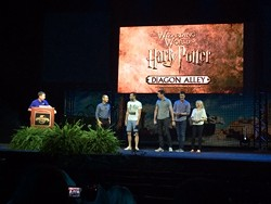"""Potter film stars at the """"State of the Universe"""" press conference."""