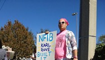 Protesters say the National Federation of Independent Business is linked to large corporations and special interests